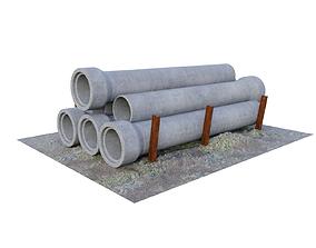blender 3D Reinforced concrete pipes