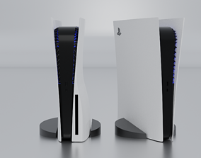 3D asset Sony PlayStation 5 and the digital edition
