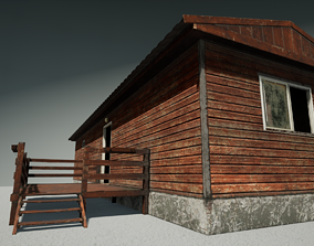House cherry painted 3D PBR