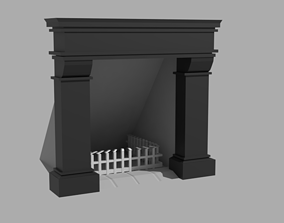 3D model Fireplace flame