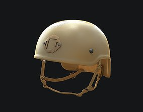 poly 3D model Tactical Helmet PBR Game-ready