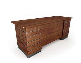 3D Wood Metal Two Tone Office Desk