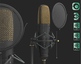Studio Microphone with Filter 3d model