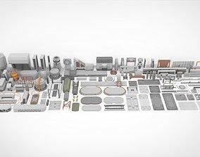 3D model Sci-Fi architecture Elements collection 24