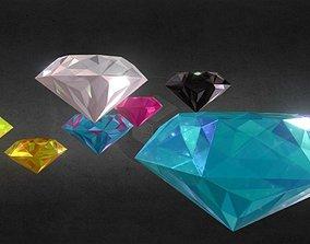 Game-Ready Precious Gems SUPER PACK 3D model