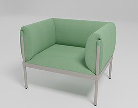 3D model STILIT - Fabric armchair with armrests -