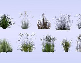 Lowpoly grass set 2 3D model