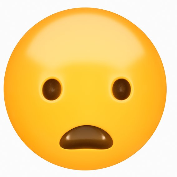 Emoji Frowning Face with Open Mouth