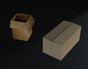 shipping 3D model Cardboard Boxes