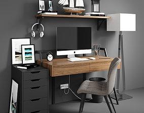 pencil 3D model Workplace set 2