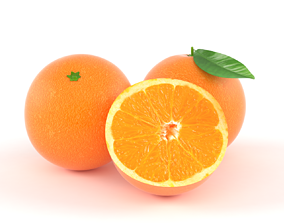 citrus 3D model Orange Fruit