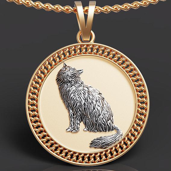Persian cat pendant