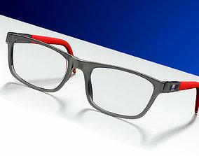 Stylish Glasses 3D model eyes