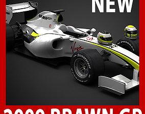 3D F1 2009 Brawn GP BGP 001