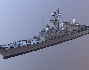 Hatsuyuki Class Destroyer of Japanese 3D model