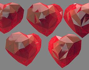 heart design origami 3D model