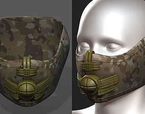 3D asset Helmet scifi gas mask helmet protection scifi