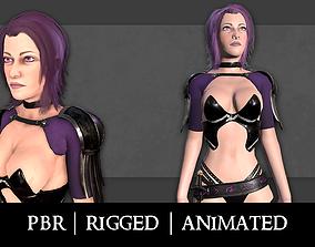 3D model Fantasy Necromancer - Female hero