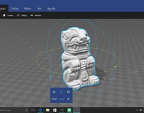 3D Scanned Mayan Jaguar Figurine