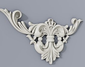 3D printable model Classic baroque cartouches element 015