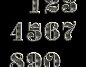 3D printable model letter NUMBERS