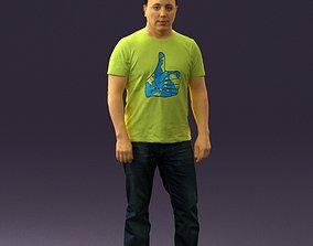 Man in golden shirt 0554 3D Print Ready