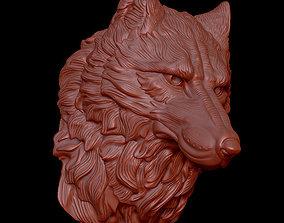 animal 3D printable model wolf head1