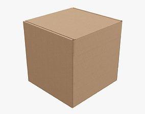 3D model Corrugated cardboard box packaging 05