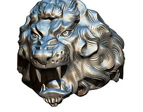 3D print model King Lion Ring