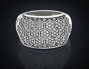 Ring with a diamond ball or a bee 3D print model
