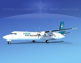 Fokker F-60 Luxair 3D model