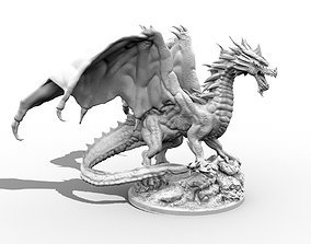 Adult Red Dragon three inch 3D printable model