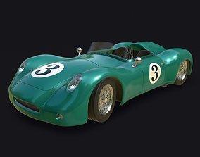 3D model Vintage Racing Car PBR real-time