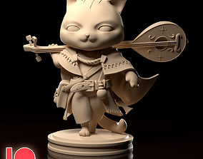 Chibi Cat Bard 3D print model