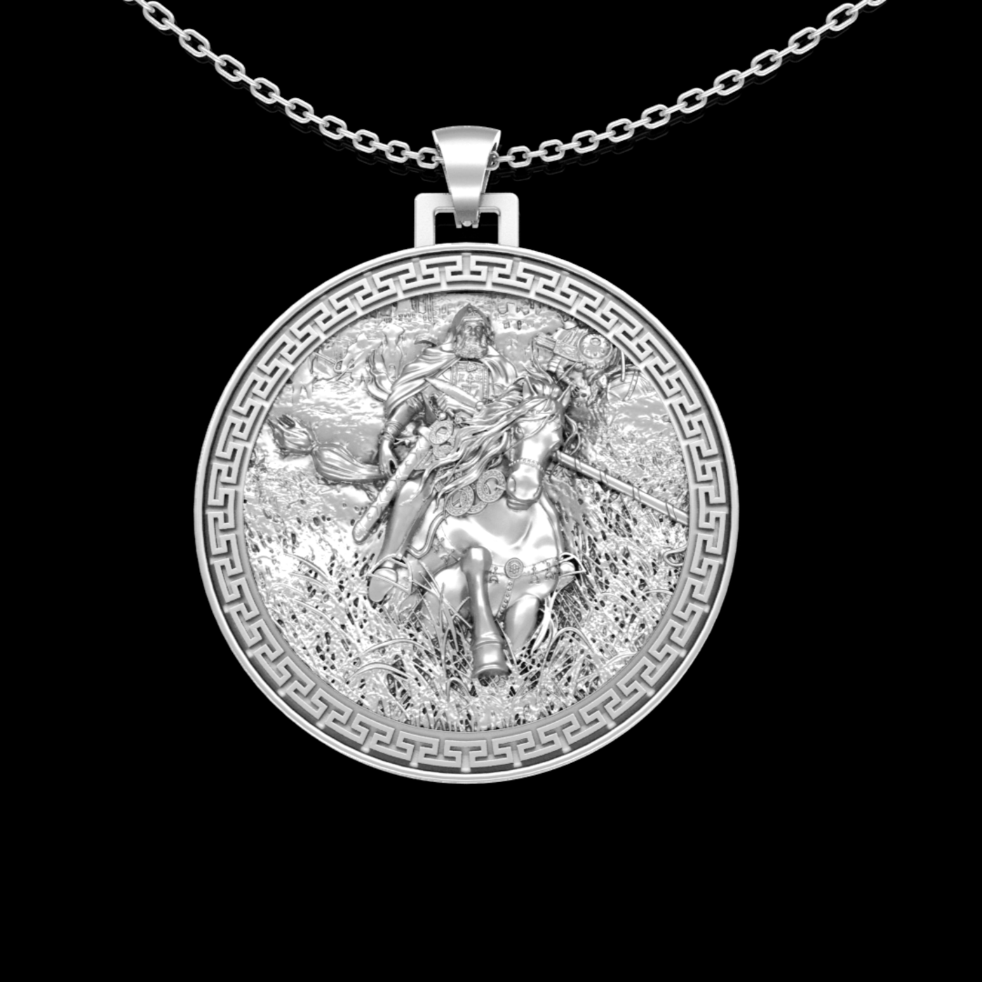 Warrior Crusade pendant jewelry gold necklace medallion 3D print model