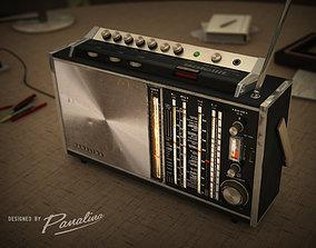 3D model Panalina Vintage Radio Satellit 1968