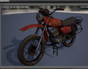 PBR Rigged Wheeled Motor 3D asset