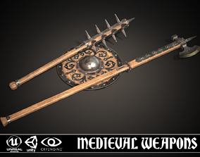Medieval weapons set01 3D model