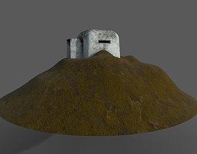 3D asset ww2 bunker