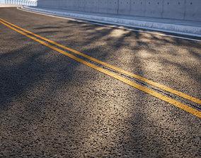 3D New Asphalt road with lines texture