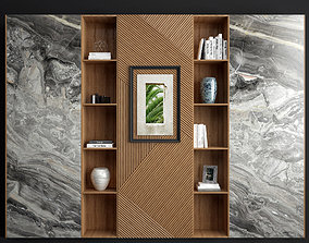 living 3D Wood and Marble Shelf 2