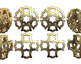 Double sided arabian pattern pendants 3D printable model 1