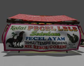 Pecel Lele Street Food 3D