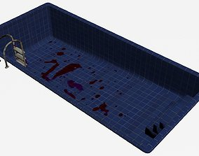 3D asset game-ready Swimming Pool -Blood Stained-