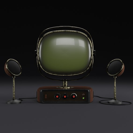 Old look TV set