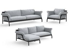 3D model Cassina Eloro sofas