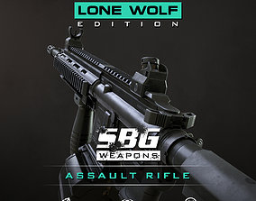 SBG Assault Rifle - Lone Wolf Edition 3D model