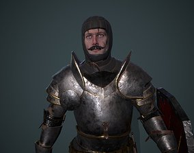 Knight 5 PBR UE4 Unity 3D asset