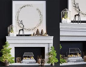 3D model New year decorative set 3