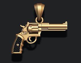 cowboy Gun pendant 3d